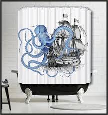 Vintage Nautical Shower Curtain Best 25 Octopus Shower Curtains Ideas On Pinterest Paul The