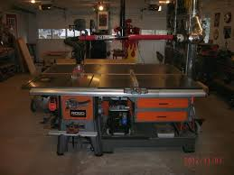 table saw router combo anyone built a table saw router table cabinet stand the garage
