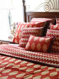 Bed Linen And Curtains - red bedding curtains and table linen moroccan bedding curtains