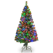 christmas tree with lights 5 green pine artificial christmas tree with 150 fiber optic led