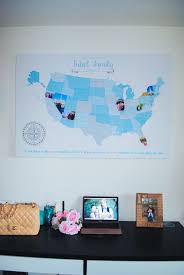 Personalized World Map by Decorate Your Home With Personalized Art From 76th U0026 Newbury One