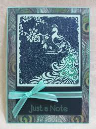 savvy handmade cards peacock embossed card