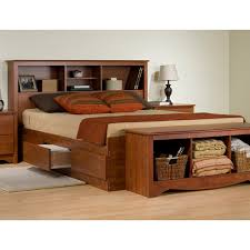 Platform Bed Headboard Full Size Platform Bed With Storage And Bookcase Headboard Ikea