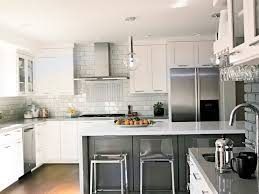 White Kitchen Backsplash White Kitchen Cabinets Grey Countertops - Modern kitchen backsplash