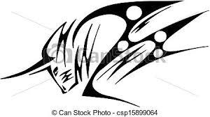 tribal bull black bull in tribal style for mascot or tattoo