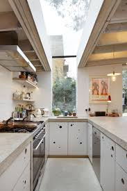 superb kitchen design interior provides long narrow space with u
