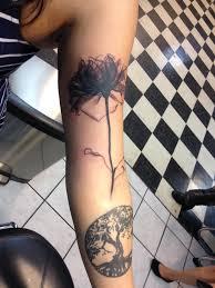 x ray image of a rose tattoo i like how the stem looks like it u0027s