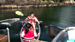 transparent kayak ricky u0026erry soesokkak jeju youtube