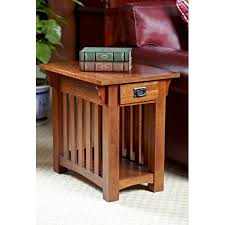 Oak End Tables Leick Solid Ash Mission Chairside End Table Hayneedle