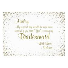 bridesmaid invitations announcements zazzle