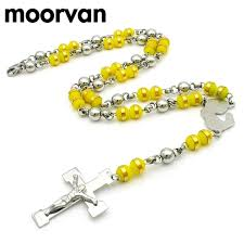 2015 men s jewelry 8mm 60cm new arrival moorvan cool 8mm wide jesus cross pendants rosary