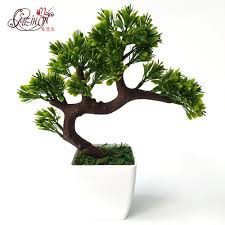 Decorative Pine Trees Aliexpress Com Buy Artificial Bonsai Tree Welcoming Plant Fake