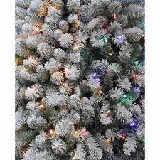 ge 4 5ft pre lit pine flocked white artificial tree w
