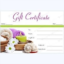 spa gift cards bring in clients with spa gift certificate templates