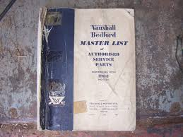 vauxhall bedford swapmeet vauxhall bedford master list of service parts 1933