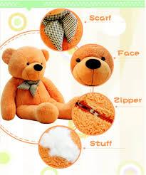 free gift 1 meter teddy bear cotton plush stuffed toy kids