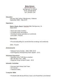 resume exles high school high school student resume exles business template for