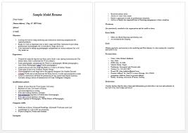 Sample Resume by Download Model Resume Haadyaooverbayresort Com