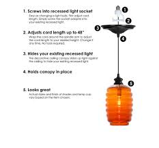 Changing Recessed Lighting To Pendant Lighting Recessed Pendant Light Conversion Kit Glass Table Ls And