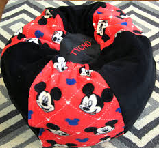 Mickey Mouse Chair by Mickey Mouse Bean Bag Chair Add Red Name Floor Cushion Kids