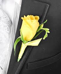 Rose Boutonniere Yellow Rose Boutonniere Personal Flowers Gallery