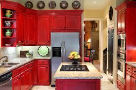 pictures of red kitchen cabinets red kitchen cabinet doors with white marble granite countertop for