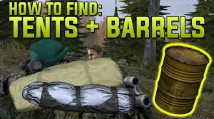 where to find barrels tents dayz standalone guide dayz tv