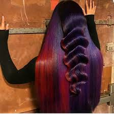 weave hairstyles with purple tips a t t e n t i o n theforeignguru has the best pins makeup