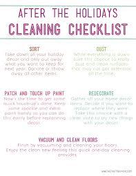 after holidays cleaning list the crafting