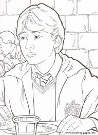harry potters ron coloring pages printable