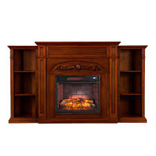 chantilly bookcase infrared electric fireplace autumn oak