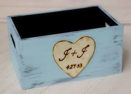 wedding program basket personalized wedding program basket holder card box crate rustic
