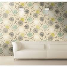 Shabby Chic Kitchen Wallpaper by K2 Starburst Wallpaper Lime Teal 10443 Floral Coloured