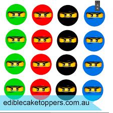 ninjago cake toppers 8 pack lego ninjago cupcakes edible cake toppers australia s