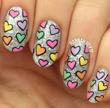 cute heart valentine u0027s day nail art nailart pinterest