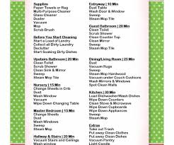 examplary a basic cleaning schedule checklist printable to
