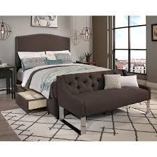 Bedroom Sofa Bench Republic Design House Queen Size Newport Grey Headboard Storage