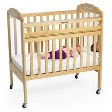 angeles drop gate crib in natural w mirror panel ael7065a