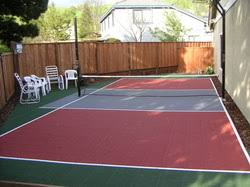 Backyard Basketball Court Building A Backyard Multi Sport Game Court Building A Backyard