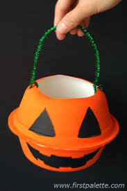 trick or treat bags pumpkin trick or treat bag craft kids crafts firstpalette