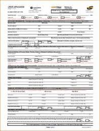 consumer credit application form template free example of best