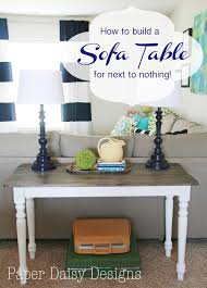 How To Build A Sofa Table by Build A Rustic Sofa Table U0026 Make New Wood Look Old