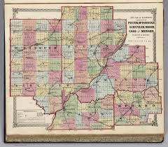 Illinois County Map Atlas Of Illinois Counties Of Fulton Mcdonough Schuyler Mason