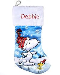 personalized christmas gifts snoopy personalized christmas stocking christmas gift