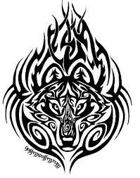 tribal wolf tattoos tribal wolf and tatting
