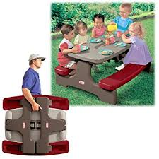 little tikes bench table amazon com little tikes easystore table toys games