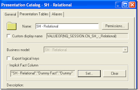 Dummy Table Oracle Bi Ee 10 1 3 4 1 U2013 Reporting On Non Transactional Dimension