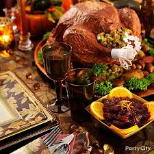 thanksgiving is a day to spend with family and friends the table