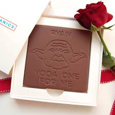 yoda valentines card personalised yoda one for me chocolate card by candy mechanics