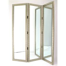 room dividers screens mirrored room divider henredon beveled mirror room divider for